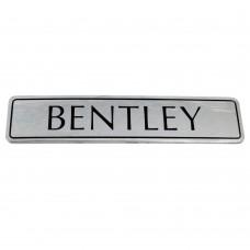 BENTLEY - BOOT LID BADGE - BLACK LETTERS - UB43298